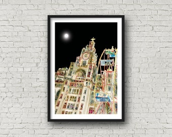 Liver Building - Liverpool - 3 Graces - Liverpool - PRINT