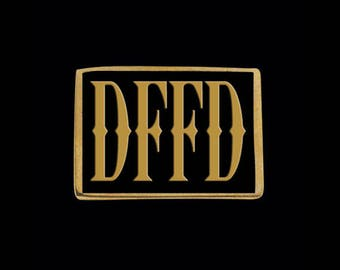 Solid Bronze DFFD Letter Ring - Free Re-Size/Shipping