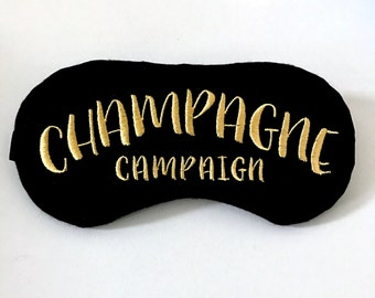 Champagne Campaign sleep mask