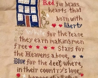 Cross Stitch-Brave Hearts