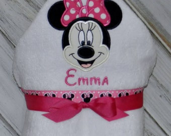 Personalized MissMouse Hooded Towel