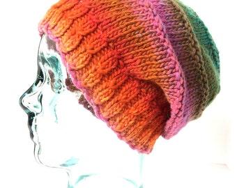 Beanie-Slouchy , Men Women HandKnit Slouch Beanie, Boho Beanie, Hipster Beanie, HandKnit Beanie, Hand Knitted Slouch Beanie, Gift, Beanie