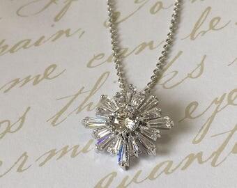 Baguette Wedding Necklace
