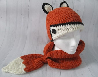Fox Hat and Cowl Set