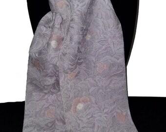 Pale pink floral kimono scarf