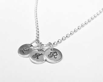 Sterling Silver Personalised Initial Charm Pendant Necklace