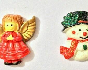 Christmas Needle Minder, Angel Needle Minder, Snowman Festive Needle Keep, Pin Holder,Magnet, Stitch Minder, Needle Holder, Needle Keep
