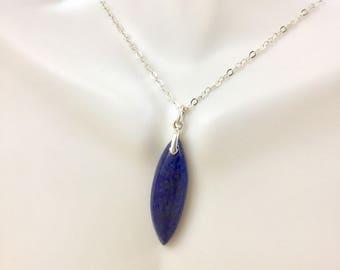 Lapis Lazuli Gemstone Pendant Necklace