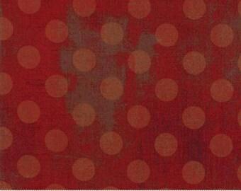 Grunge Hits the Spot - Dots in Maraschino - Basic Grey for Moda - 30149-13 - 1/2 yard