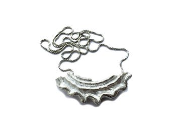 Astrea Necklace // Sterling Silver Shell Pendant