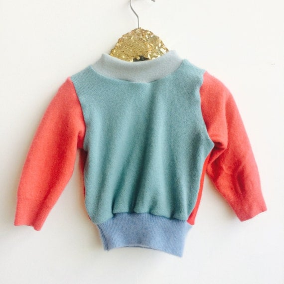 SOFTIE Kids 6-12 Months Cashmere Jumper Handmade Top Sweater Pullover Pulli Upcycled Thermal Cashmere Unisex