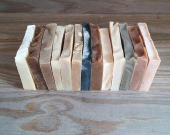 Soap Sampler Set, Soap Gift, Soap Variety, Soap Mix, Handmade All Natural Cold Process Artisan Soap