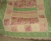 Ruffled Rag Quilt Mailed Paper Pattern by Sew Practical, Mom and Pop Craft