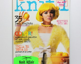 Knit 1 Magazine, Knitting Magazine, Summer 2006, Knitting Patterns, Sweater Patterns, Collectible Art Issue, Frida Kahlo Inspired Designs