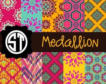 Medallion Patterns Vinyl (Indoor, Outdoor,  Glitter Vinyl, HTV iron on, Glitter Heat Transfer) Lamination available Mask not included