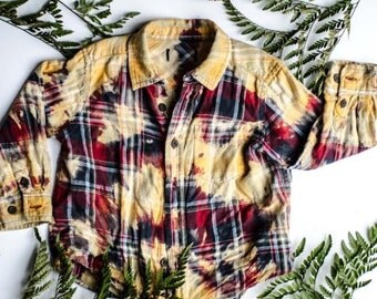 Toddler Faded Hiking Flannel ~ One of a Kind!