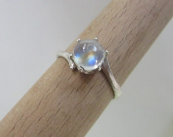 Statement Moonstone Ring - Rainbow Ring - Size 8 - Artistic Moonstone Ring