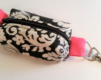 Mini zippered clip-on pouch for backpacks & key rings.  Credit card sized.  1.00 same-day shipping!
