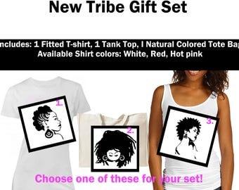 Natural Gift Set -Natural Hair T-shirt, Afro Hair T-shirt,