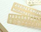 Brass Journal Stencil Brass Ruler Stencil Ruler Drawing Stencil