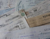 Checks, Antique French Papers, Large Cheques, Checks,   Circa 1920 / 1930's