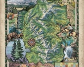 ROCKY MOUNTAIN NATIONAL park map, rocky mountain national park poster, rocky mountains, national park poster, national park map, rockies map