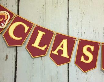 Graduation Banner, Class of 2017 Banner, Graduation Decorations