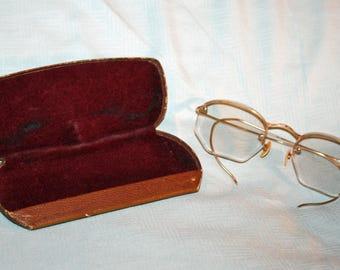 Vintage Eyeglasses, 12K Gold Filled, Spectacles, Eye Glasses