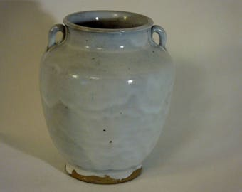 Reserved for Alan M. - Jugtown Tang Vase in Chinese White Glaze - Ben Owen Sr.