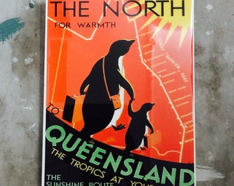 Penguins The North Vintage Wall Tile