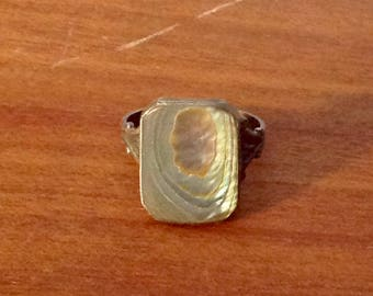 Vintage Sterling silver with abalone Victorian era ring