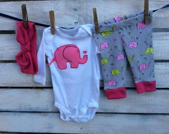 Baby Legging  Outfit, Newborn Outfit, Elephant Outfit, Baby Elephant Outfit