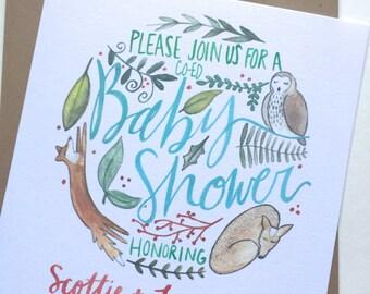 Woodland Baby Shower Invitations // Customized