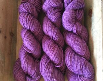 BFL ARAN - 100% BFL yarn in Aran weight - non superwash - Purple Aran
