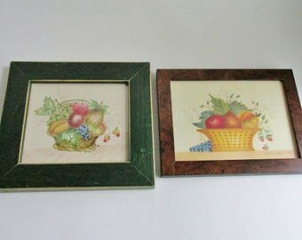 Vintage Theorem Paintings YOUR CHOICE Original Framed Fruit Baskets Artist Signed