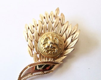 NAVAL ACADEMY, NAVY antique button brooch pin, better than a corsage. 1800s button