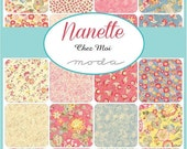 SALE Nanette Layer Cake by Chez Moi for Moda - One Layer Cake - 33160LC