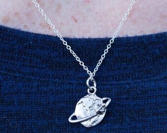 wanderlust necklace   traveler's necklace   globe necklace   globe   not all who wander are lost necklace   graduation gift   gift under 20