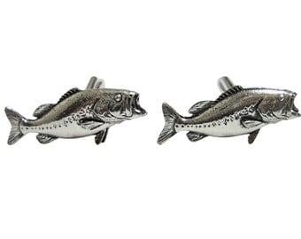 Bass Fish Pendant Cufflinks