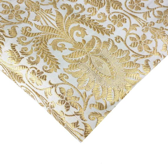 Gold dress fabric