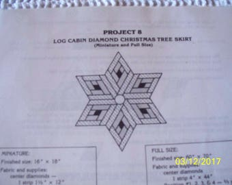 Quilt Patterns for Wall Hangings, Table Runner & Drape, and Christmas Tree Skirt