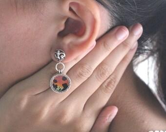Butterfly wing jewelry Women insect jewelry Insect earrings Moth Insect gift earrings Gift earrings wife Girlfriend gift earrings Woodlands