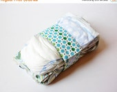 Clearance Blue Diaper Strap - Blue, Green and Black Polka Dots