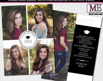 Accomplished Class , Graduation Announcements With Photos