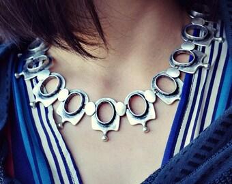 Silver Bell Boho Necklace Women Bohemian Jewelry