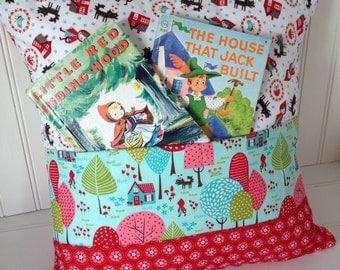 READY TO SHIP: Little Red Ridinghood Pocket Pillow, Nursery Decor