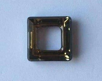 1 SWAROVSKI 4439 Cosmic Square Crystal Bead 20mm SAHARA