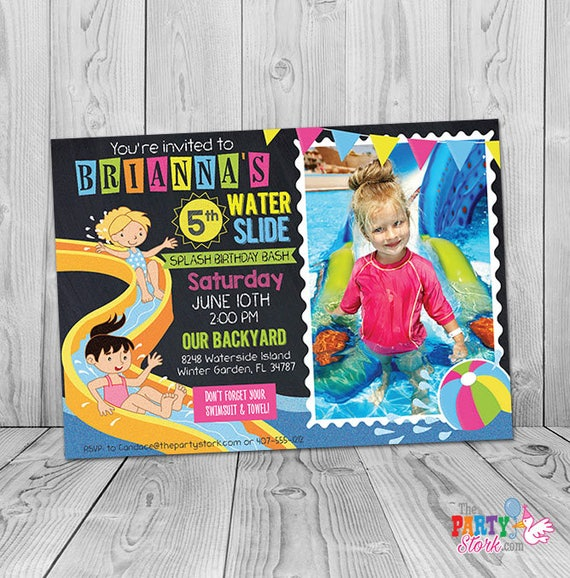 Waterslide Birthday Invitation Printable