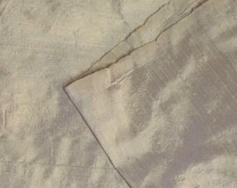 Silk Fabric / Antique White Silk Fabric / Cream Silk Fabric / Silk Fabric Yardage / Vintage Silk Fabric / Vintage Silk / Silk By The Yard