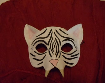 White Tiger Leather Mask